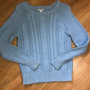 🆕EUC Old Navy Sky Blue Cableknit  Sweater L